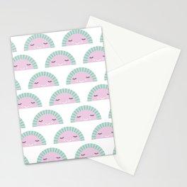 kawaii breeze summer watermelon fruit punch Stationery Cards