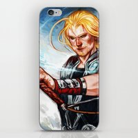 thor iPhone & iPod Skins featuring Thor by Boisson