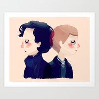 221b Art Prints featuring 221B by Nan Lawson