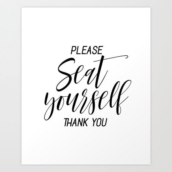Printable Please Seat Yourself Thank You Wall Art Funny Bathroom Wall Art Prints Art Print By Nikolajovanovic Society6