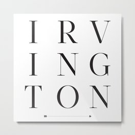 Irvington Metal Print