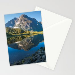 Mountain Reflection in the Bay at Milford Sound Stationery Cards