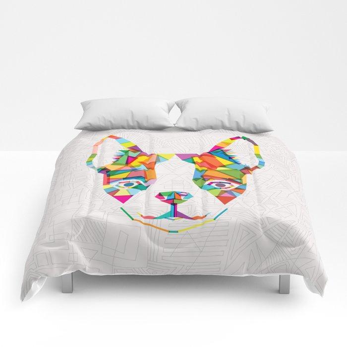 Rainbow Bulldog Comforters