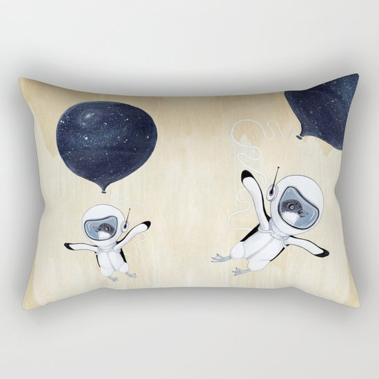 Penguin fly Rectangular Pillow