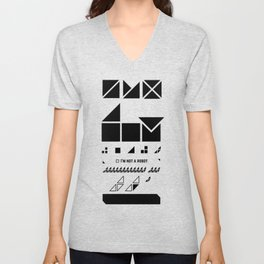 I am not a robot. Unisex V-Neck
