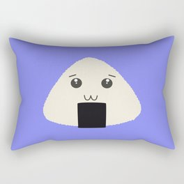 kawaii onigiri rice face Rectangular Pillow