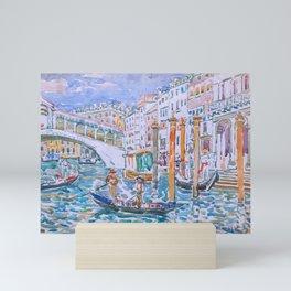 Rialto, Venice by Maurice Prendergast - Belle Époque Watercolor Painting Mini Art Print