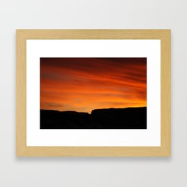 December Warmth Framed Art Print