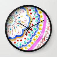 artsy Wall Clocks featuring Artsy Fartsy by Peach Preserves