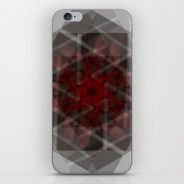 Contained in red iPhone Skin