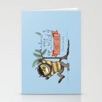 wild things Stationery Cards featuring Wild Things by Sofia Verger