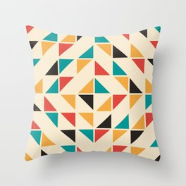 Triangles Mid Century Pattern Throw Pillow