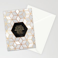If you're brave enough / Design Milk Collab. Stationery Cards