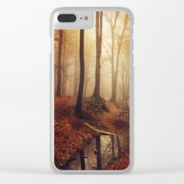 Forest Creek At Sunrise Clear iPhone Case