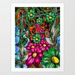 """Incense & Hummingbirds"" Art Print"
