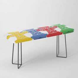 Candy Board Game Figures Bench