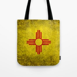 Flag of New Mexico - vintage retro style Tote Bag