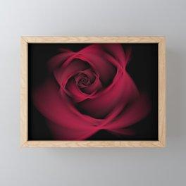 Abstract Rose Burgundy Passion Framed Mini Art Print