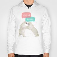 best friends Hoodies featuring best friends by Laura Graves