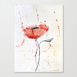 Poppy no 1 Canvas Print