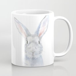 Gray Bunny Rabbit Watercolor Painting Coffee Mug