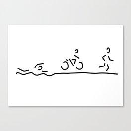 triathlon triathlet Canvas Print