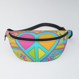 Peace and Love Fifty Years since Woodstock Fanny Pack