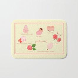 Colors: pink (Los colores: rosa) Bath Mat