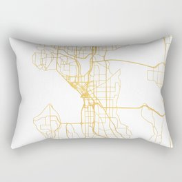 SEATTLE WASHINGTON CITY STREET MAP ART Rectangular Pillow