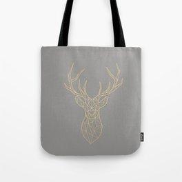 Geometric Deer Tote Bag