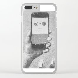 Does a Bit of change scare a numismatist? Clear iPhone Case
