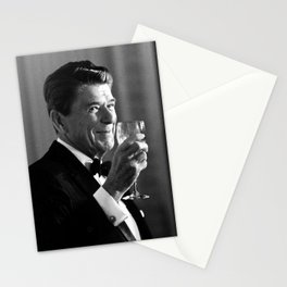 President Reagan Making A Toast Stationery Cards