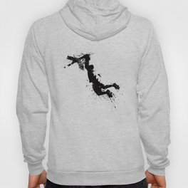 Basketball player dunking in ink Hoody