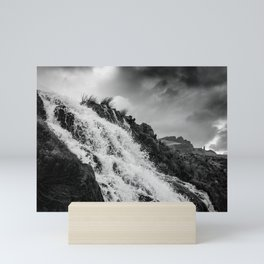 Old man of Storr - waterfall Mini Art Print