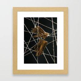 Artist's hands. Framed Art Print