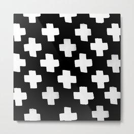 Criss Cross Pattern Metal Print