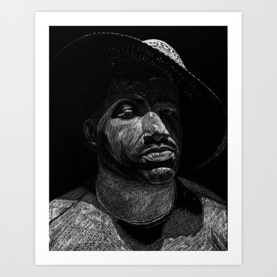 "INTO THE NIGHT: ""Street Lit"" Art Print"