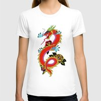 dragon T-shirts featuring dragon  by mark ashkenazi