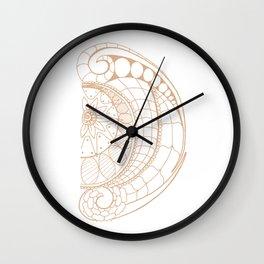Fancy D Wall Clock