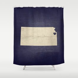 Kansas City, Kansas Love Map Art Shower Curtain