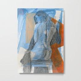 Blue Nude Metal Print