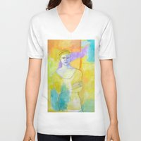 chef V-neck T-shirts featuring Chef by lizmcdonaldstudio.com