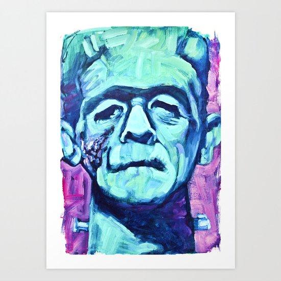 Frankenstein Halloween Zombie Art Print