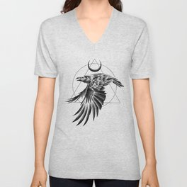 THE RAVEN AND THE MOON Unisex V-Neck