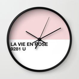 la vie en rose Wall Clock