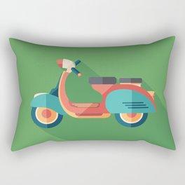 Vintage Urban Scooter Rectangular Pillow
