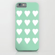 16 Hearts Mint iPhone 6s Slim Case