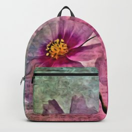 WATERCOLOR GRUNGE FLORAL COLLAGE Backpack