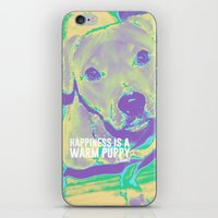 kobe iPhone & iPod Skins featuring Happiness: Pitbull (Dog)  by PupKat