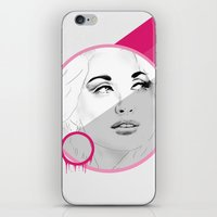 dolly parton iPhone & iPod Skins featuring Dolly by Cecily Cloud